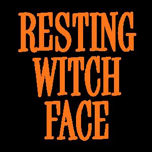 Orange Gesicht Hexe Resting