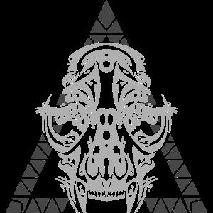 Tribal Katzenschädel dunkel