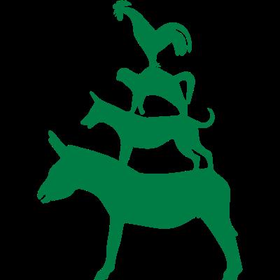 Bremer Stadtmusikanten 2 -  - Hahn,Pyramide,Stadt,Musiker,Esel,Bremen,Märchen,Silhouette,Katze,Tier,Myth,Hund,freedesigns17