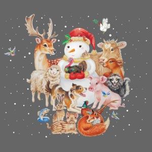 winter animals liggend