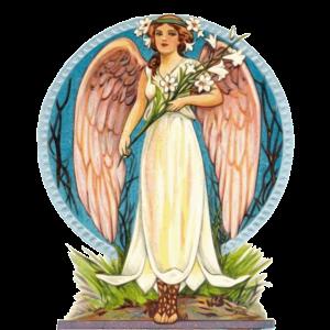 Flora Engel mit Lilien