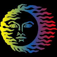 Eine bunte Sonne