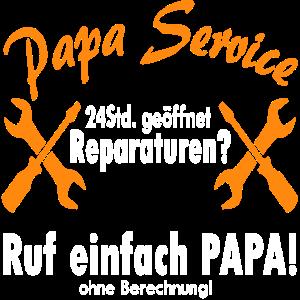 papa service einfach anrufen 24 geöffnet geschenk