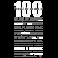 100 WORDS DARK SHIRT