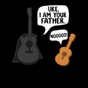 Ukulele Gitarre Geschenk Uke I am your father
