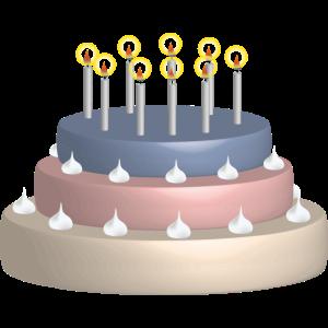 Geburtstagskuchen hat Sahne
