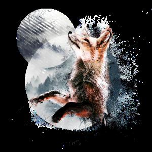 Fuchs im Mondschein