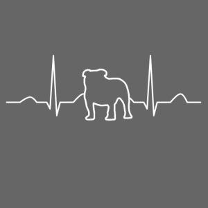 Hunde Herzschlag EKG T-Shirt