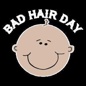 Bad Hair Day Glatze Haare Glatzkopf Frisur Baby