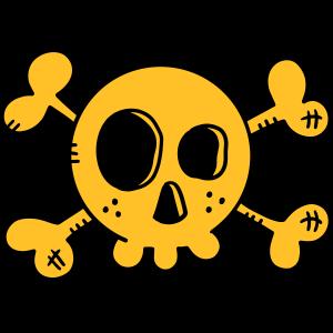 Drolliger Totenkopf - Schädel - Skull - Pirat -Fun