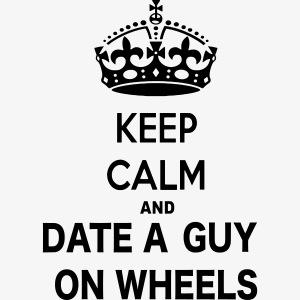 Blijf kalm, date een man in een rolstoel
