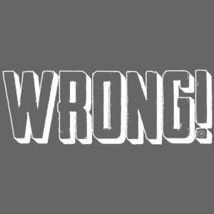 wrong logo white