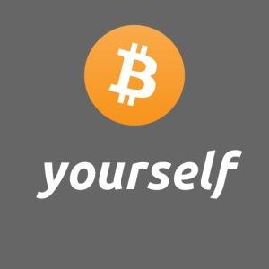 cryptocool b yourself white font -bitcoin logo