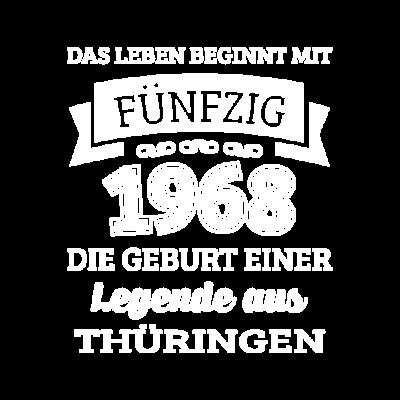 Geburtstag 50 Jahre Legende aus Thüringen - Wenn du auch bald 50 wirst und ein echter Thüringer bist dann wirst du dieses Design lieben. Dieser witzige Spruch ist perfekt für alle Thüringer die 1968 geboren wurden. - zum Schreien,urkomisch,spruch,shirt zum 50,shirt,norden,lustig,jena,jahre,gut aufgelegt,geschenkidee,geschenk,geburtstag,geboren,erfurt,Thüringen,50 shirt,50 geburtstag,50,1968