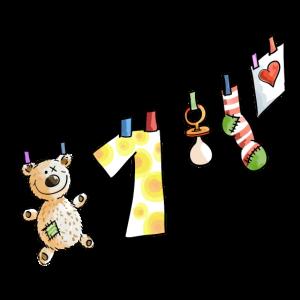 Babys erster Geburtstag Wäscheleine - Eins - Kind