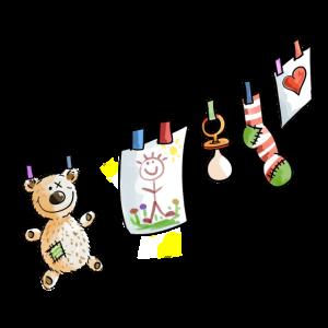 Babys Wäscheleine - Baby - Schnuller - Spielzeug