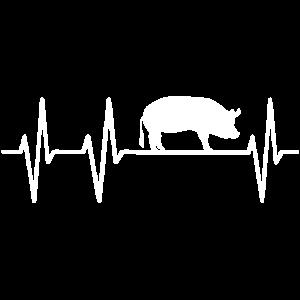 Schwein Schweine Herzschlag Bauer Landwirt Sau