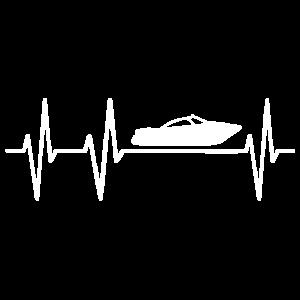 Boot Schiff Motorboot Yacht Herzschlag Herzklopfen