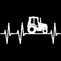 Traktor Herzschlag Schlepper Trecker Puls Herz