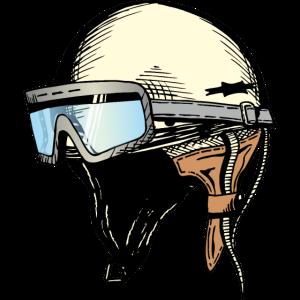 DDR Helm mit Brille