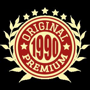 1990 Original Geburtstag Geschenk Jahrgang
