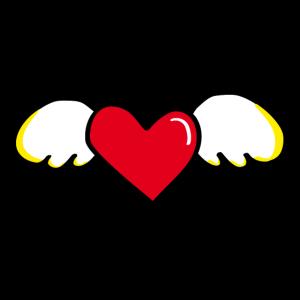 Geflügeltes Herz - Flying Heart, Pop Art