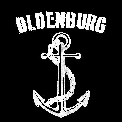 Oldenburg T-Shirt - Zeig allen Deine Liebe zur Stadt Oldenburg. Der Anker symbolisiert die maritime Lage von Oldenburg. - Ostsee,Oldenburg,Norddeutschland,schleswigholstein,Hafen,hafen,st pauli,Hansestadt,Anker,Tau,Büsum,Nordsee,Hanse,Meer,hamburg,Wellen