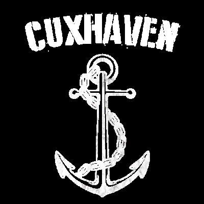 Cuxhaven T-Shirt -  - Wellen,Tau,Ostsee,Nordsee,Norddeutschland,Meer,Hansestadt,Hanse,Hafen,Cuxhaven,Cuxhafen,Anker
