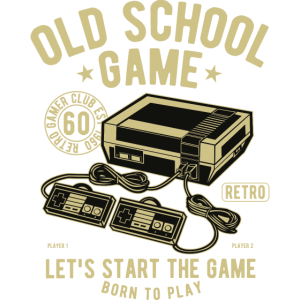 Old School Game Videogame Gaming Retro Vintage