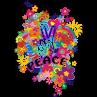 NEW FLOWER POWER RAINBOW - PEACE