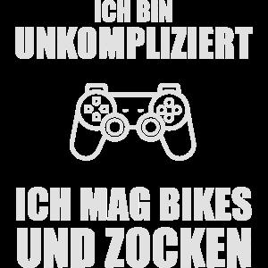 Ich bin unkompliziert ich mag Bikes und Zocken.
