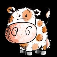 Süßes Kuhbaby - Kuh - Kühe - Kind - Baby - Geburt