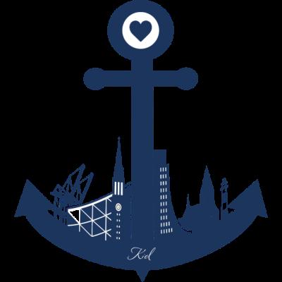 Kiel - Kiel - Skyline Kiel,Kieler,Kiel,Anker