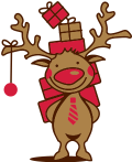Motif Cerf de Noël