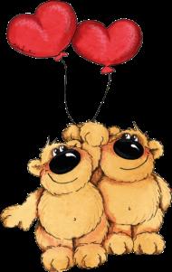 Valentinstag Shirt: Zwei verliebte Bären