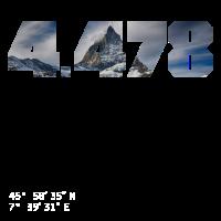 Matterhorn 4.478 Meter Berg Foto mit Koordinaten