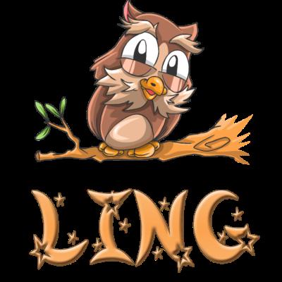 Eule Ling - Ling Eulen Design für Ling. - Ling süss,Ling Geschenke,Ling Geschenk,Ling Geburtstagsgeschenk,Ling Geburtstag,Ling Geburt,Ling Eulen,Ling Eule,Ling