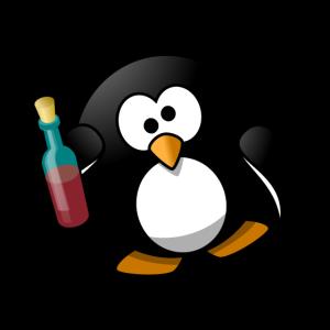 Besoffener Pinguin