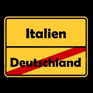 Auswandern nach Italien! Ortsschild Desing.