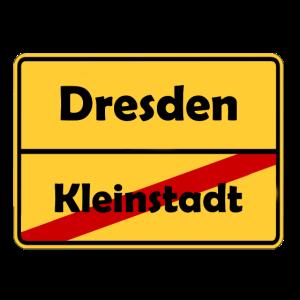 Umzug nach Dresden! Ortsschild Design.