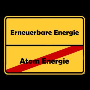 Ortsschild Design gegen Atom Energie!