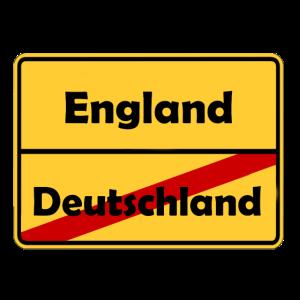 Auswandern nach England! Ortsschild Desing.