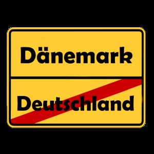 Auswandern nach Dänemark! Ortsschild Desing.
