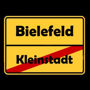 Umzug nach Bielefeld! Ortsschild Design.