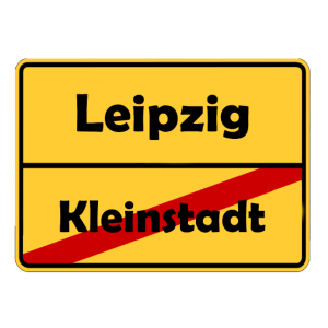 Umzug nach Leipzig! Ortsschild Design.