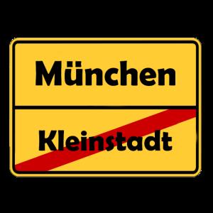 Umzug nach München! Ortsschild Design.
