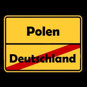 Auswandern nach Polen! Ortsschild Desing.