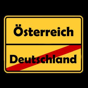 Auswandern nach Österreich! Ortsschild Desing.