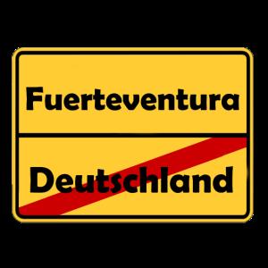 Auswandern nach Fuerteventura! Ortsschild Desing.