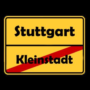 Umzug nach Stuttgart! Ortsschild Design.